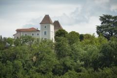 Le château vu depuis le parc